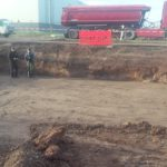 Tijdens uitgraven