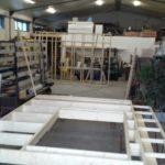 Tijdens fabricage in eigen werkplaats.